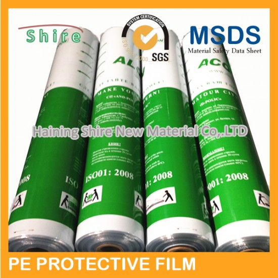 Non-metallic adhesive backed stainless steel protective film