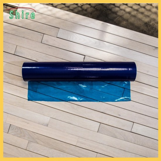 Floor Protection Film, Temporary Adhesive Plastic, Blue Color Film