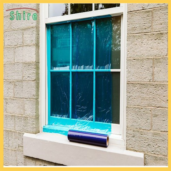 Blue Self Adhesive Window Protection Film Out Building Construction Glass Protect Cover
