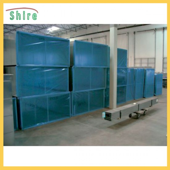 Self - Adesive HVAC Duct Cover Shield  Blue Color Protection Film Customrized Logo
