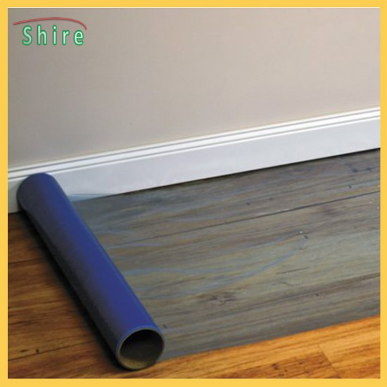 Floor protection film easy-roll adhesive hard floor multi surface protection film