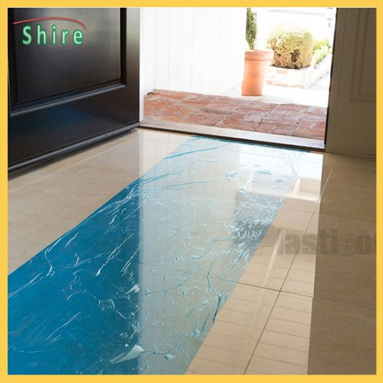 printable  floor protection plastic film PE adhesive floor protective film