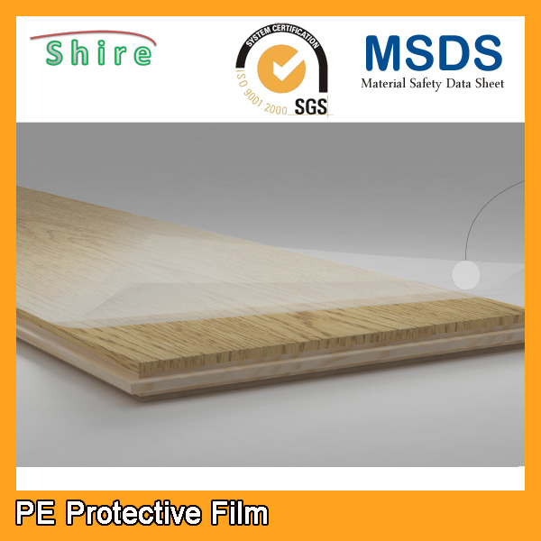 Transparent Plastic Film for protect hardwood