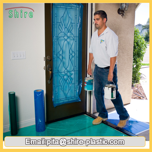 blue protection film for glass door